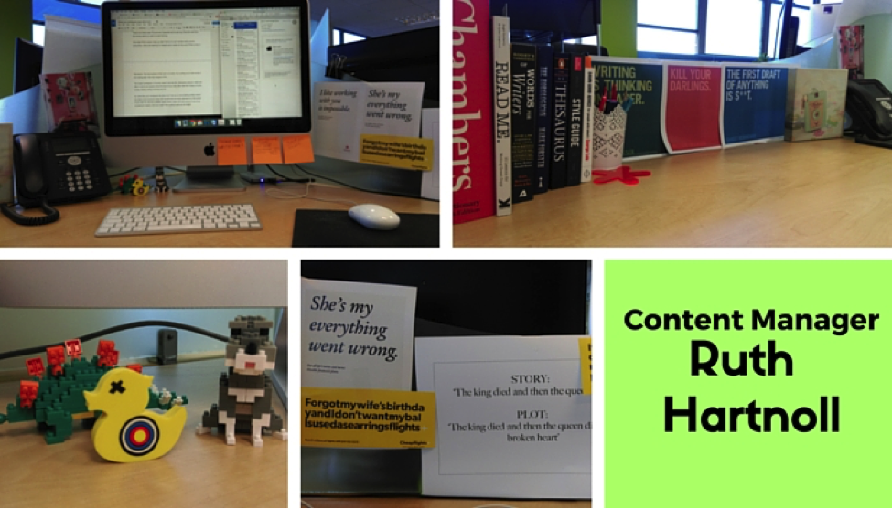 Content manager - Ruth Hartnoll's desk