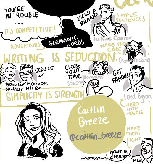 """Writing is seduction"" - Caitlin Breeze"