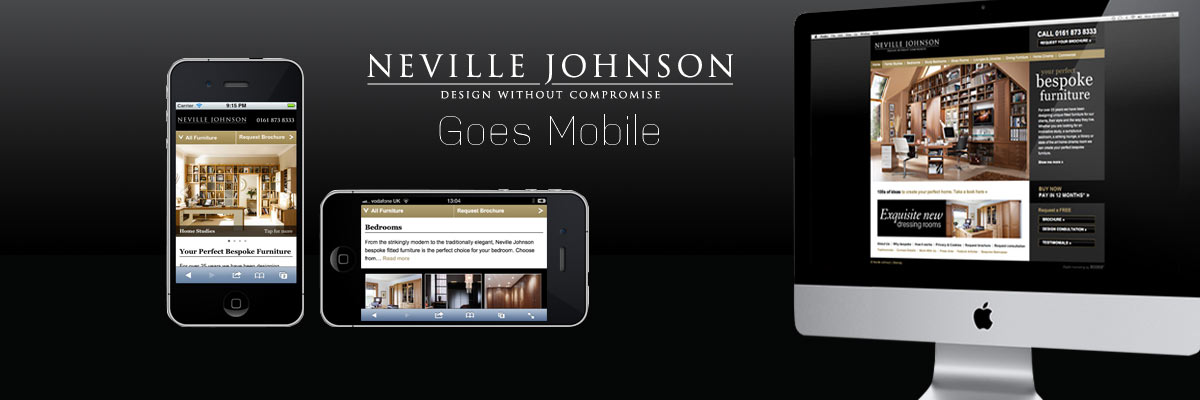 Mobile site for Neville Johnson