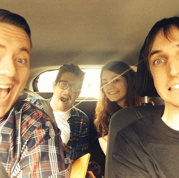 Access team car selfie