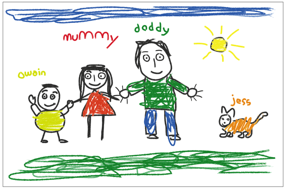 Child's family drawing