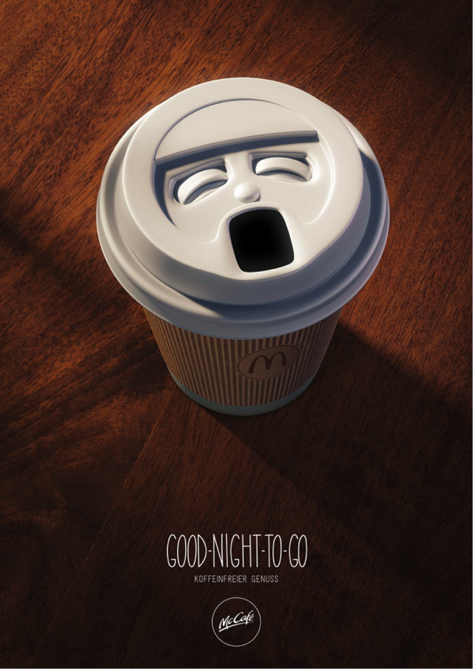 McCafe coffee cup advertisement