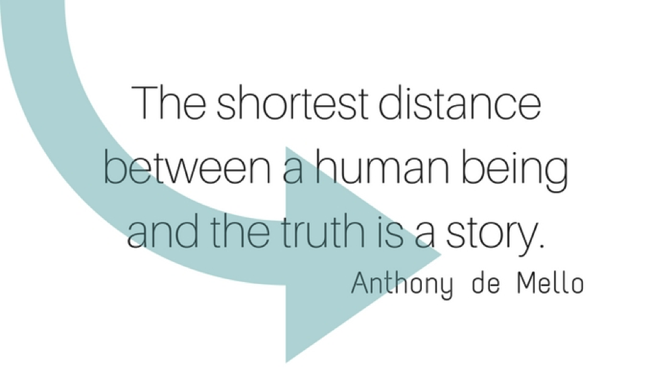 Distance between a human being and the truth quote- Anthony de Mello