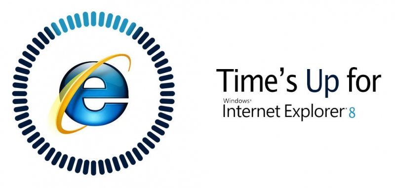 Time's up for Internet Explorer 8