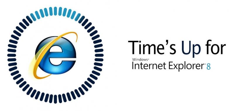 Time's up for Internet Explorer 8