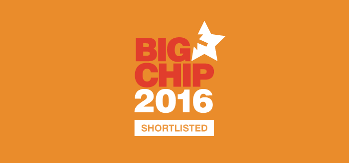 We've been shortlisted for the Big Chips 2016!