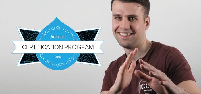 Drupal Developer Michael Trestianu passes his Acquia exam!