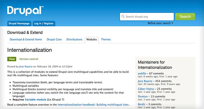 i18n page on Drupal.org