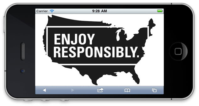 Enjoy Responsibly on map of the USA