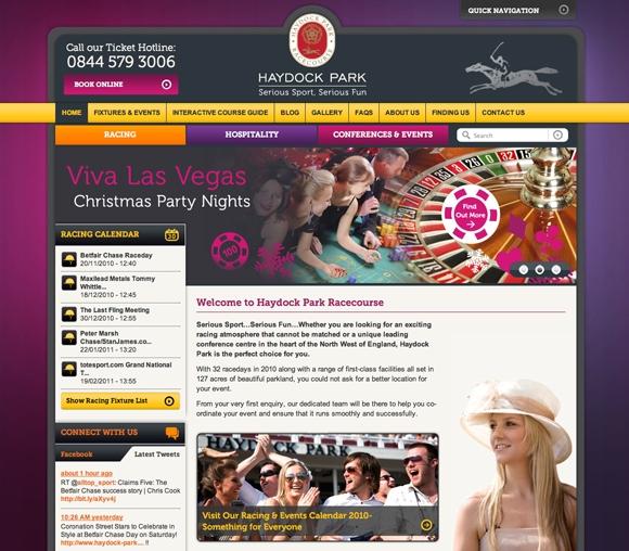 Haydock Park new website