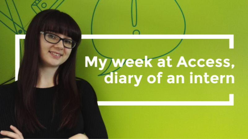 Gemma Curtis, intern at Access