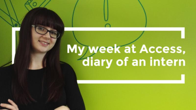 Gemma Curtis, intern at Access