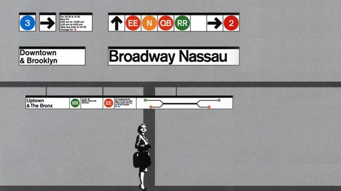 Massimo Vignelli subway signage