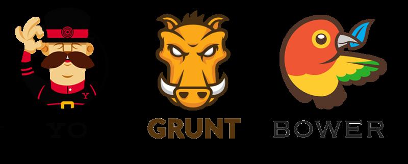 The web triforce - Yo, Grunt & Bower
