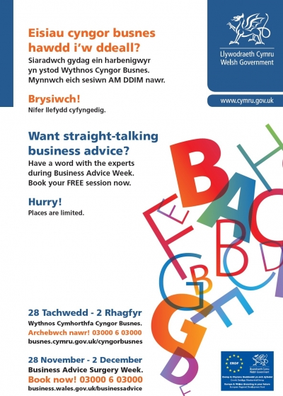 Welsh Government Poster - Business Advice Week