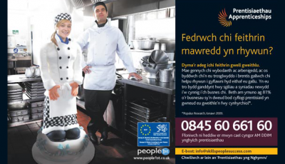 Welsh Apprenticeships advertising campaign