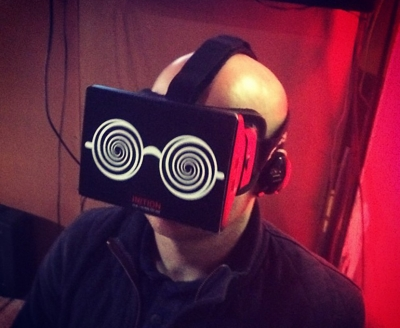 Mark Hope wearing an Oculus Rift
