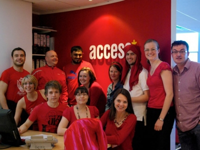 Access in red for Red Nose Day