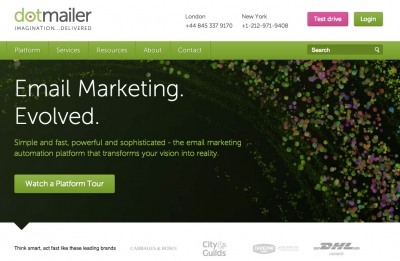 dotMailer homepage