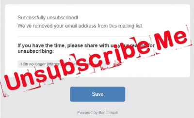 Unsubscribe me!