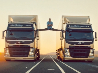 Van Damme splits between Volvo trucks