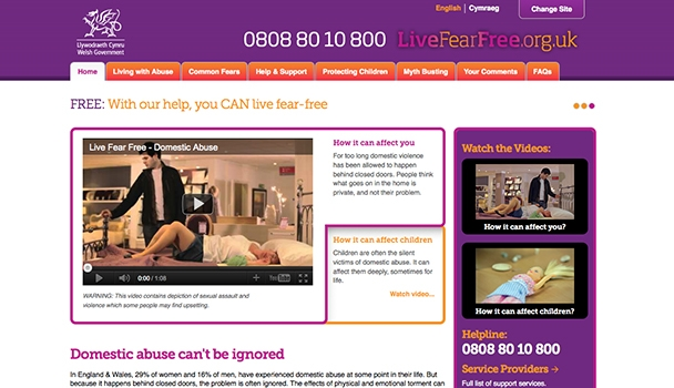 Welsh Government - Live Fear Free, Sexual Violence Campaign