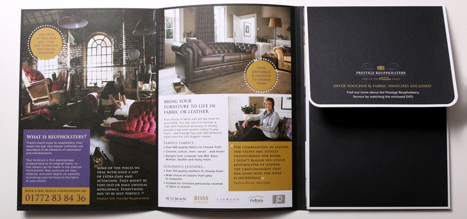 Plumbs Prestige Reupholstery – brand photography
