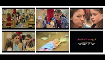 Welsh Government Live Fear Free campaign