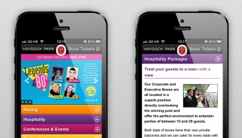 Haydock Park website on Mobile