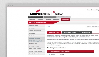 Cooper Fulleon specifier tool thumbnail