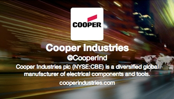 Cooper Industries twitter profile