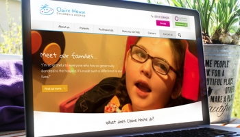 Claire House website homepage