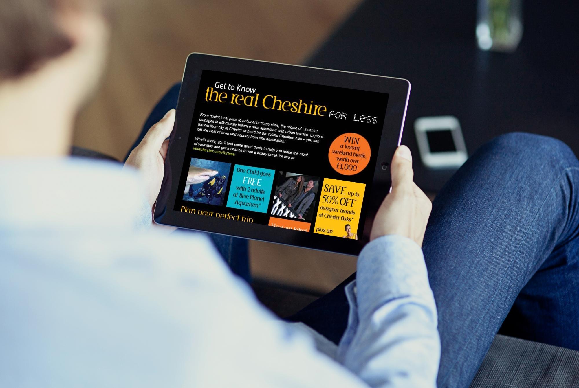 Visit Chester webpage mockup