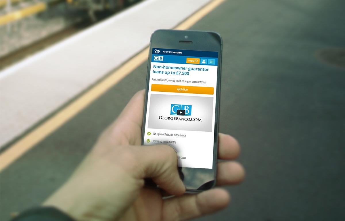 George Banco website on mobile