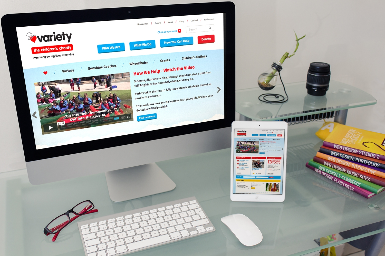 Variety website on Desktop