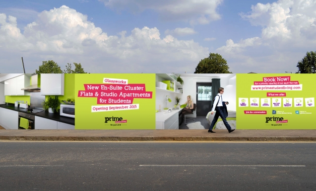 Prime Student Living's Advertising Hoardings